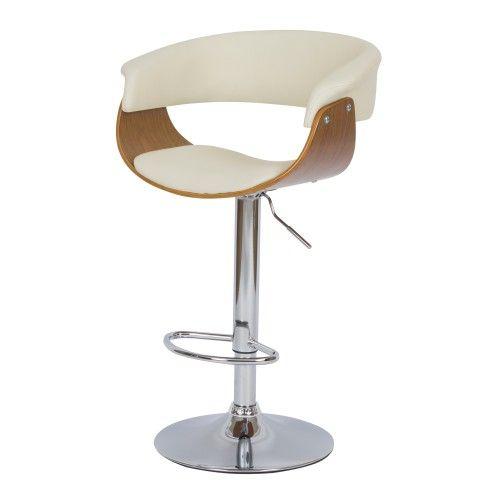 Chaise De Bar Blanche Basile Avec Accoudoirs 55 5 81 Cm Chaise Bar Chaise Accoudoir