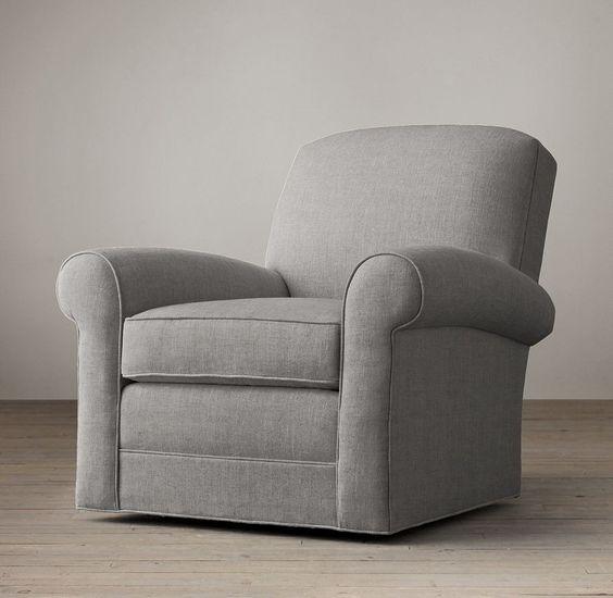 Lowell Club Swivel Chair | Swivels U0026 Recliners | Restoration Hardware