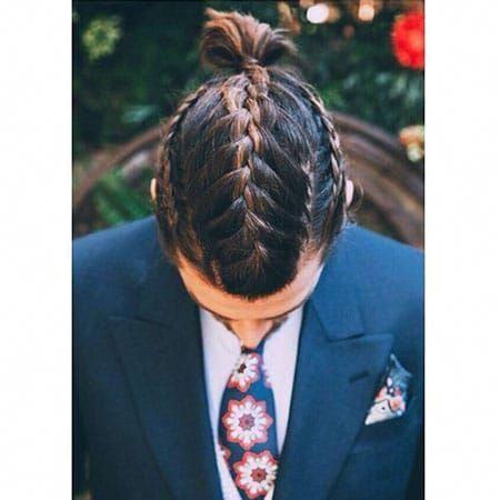 Los Ultimos Peinados Trenzados Para Hombres Braidedhairstyles Latest Bra Pelo Largo Hombre Peinados Peinado Cabello Largo Hombre Trenzas Hombre Pelo Corto