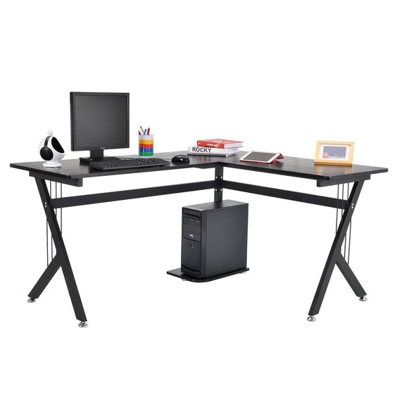 Tenive Ergonomic Corner Office Computer Desk Workstation -L Shaped