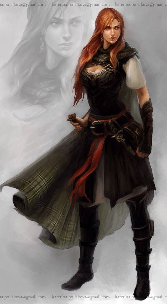 It's Kiran!  She's a mercenary turned Guardian in my novel, Mage's Burden.  Not that I know the actual origin of this drawing, but I think it's fabulous, and fits my vision of that character almost perfectly.