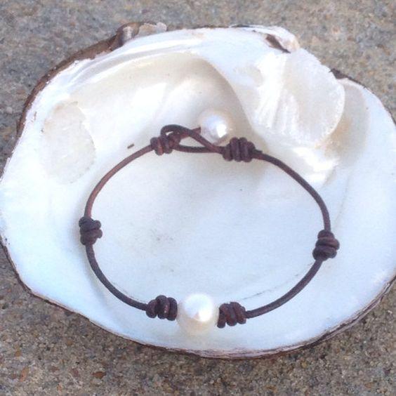 White Freshwater Pearl Bracelet on Etsy, $15.00