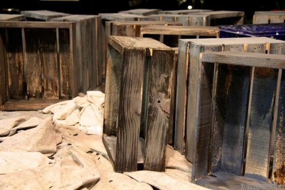 how to paint Michael's wood crates to look like Restoration Hardware weathered wood. it's almost embarrassing how easy this is.  tutorial at imeeshu.com