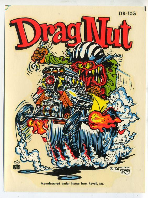 ☮ American Hippie Art ~ Rat Fink Ed Roth .. Drag Nut