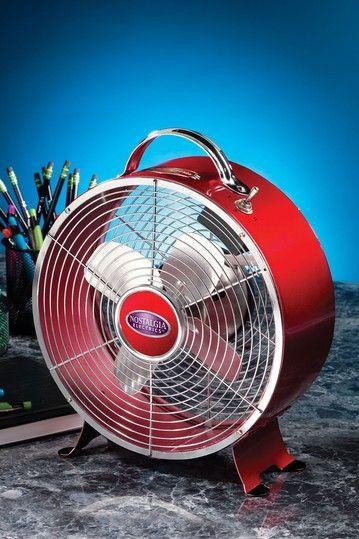 Nostalgia Retro Red Desk Fan By Flashback Electrics 22 Was 40 00
