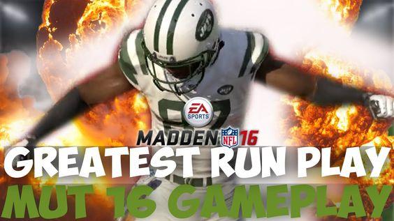 BEST RUN PLAY!! JOE HORN GOES OFF! Madden 16 Ultimate Team | MUT16