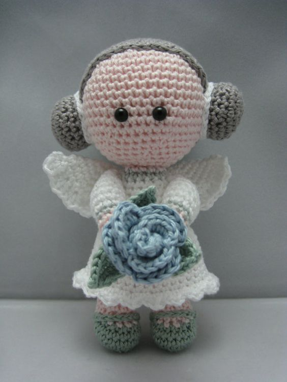 Original Crochet Amigurumi Flowers : Flower Angel (Instant download Amigurumi doll crochet ...