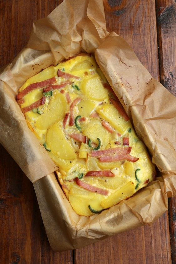 Tortilla espagnole cuite au four