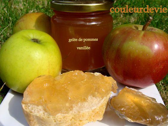Gelée de pommes https://couleurdevie.wordpress.com/2010/09/24/gelee-de-pommes/