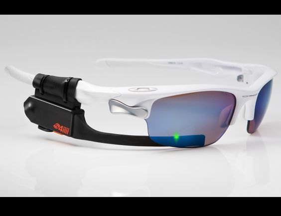 Augmented Reality on Your Sunglasses    4iiii released a heads up display for athletes called Sportiiis. The system hooks onto your sunglasses and projects information from up to eight ANT+ devices onto the lens for easy viewing. For instance, you can have a heart rate monitor, pedometer, and GPS all going and the data will be conveniently relayed below your eyes via LED light up prompts.