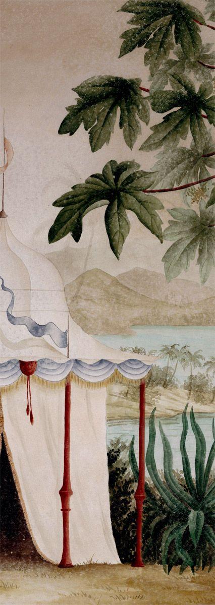 les rives de l 39 irrawaddy papier peint panoramique www. Black Bedroom Furniture Sets. Home Design Ideas