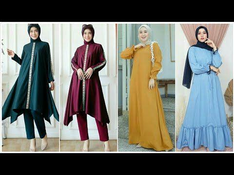 Model Baju Tunik Dan Gamis Syar I Polos Simple Elegan Terbaru Harga Terjangkau Youtube Tunik Pesta Pernikahan Model