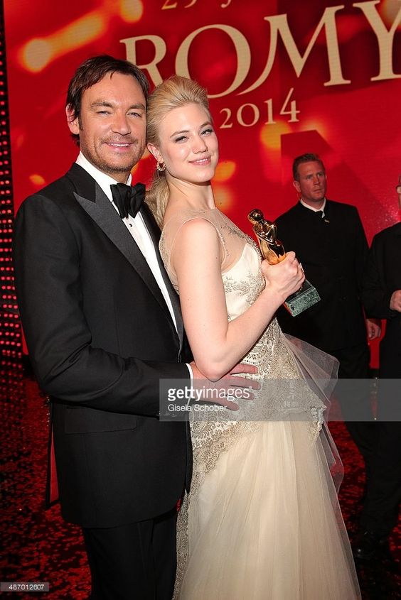 Larissa Marolt and her boyfriend Whitney Sudler - Smith attend the 25th Romy Award 2014 at Hofburg Vienna on April 26, 2014 in Vienna, Austria.
