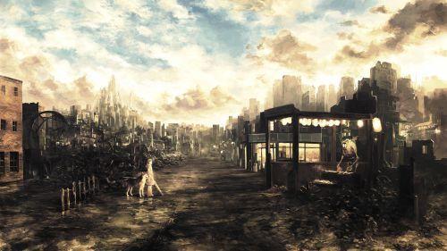 Wasteland Weekend Hd Wallpaper Anime Scenery Wallpaper Anime Scenery Scenery Wallpaper