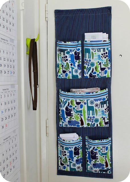 fabric mail organizer for the wall
