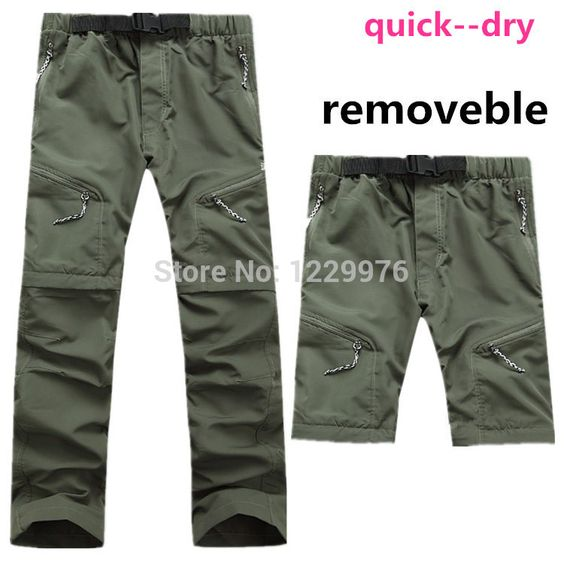 Spring New Arrival 2015 Men Quick-Drying Leisure Travel Active Removable Hiking Waterproof Perspiration Pants Trousers Men Brand