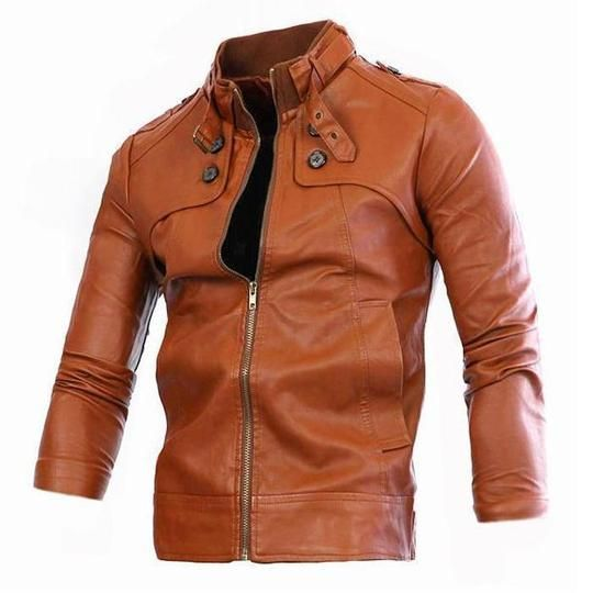 Men S Stand Collar Slim Leather Joymanmall Jackets Men Fashion Casual Jackets Men Fashion Style Jackets Men De Leather Jacket Leather Jacket Men Mens Outfits