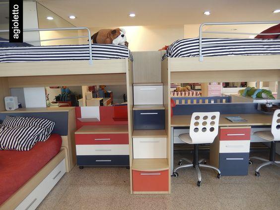 Con las camas agioletto pod s aprovechar el espacio de - Dos camas en una ...