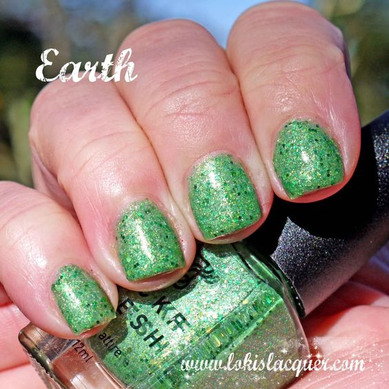 Mckfresh Nail Attire Planeteers Collection swatches. earth