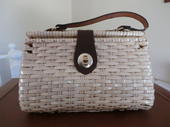 Vintage New Old Stock Glo-Belle Wicker Purse by Reminisce47