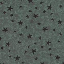 Viskose Gewebt, Staubmint mit Sternen