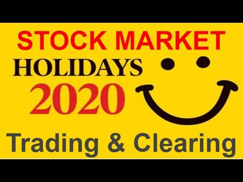 List Of Stock Market Holidays 2020 In India In 2020 Stock Market