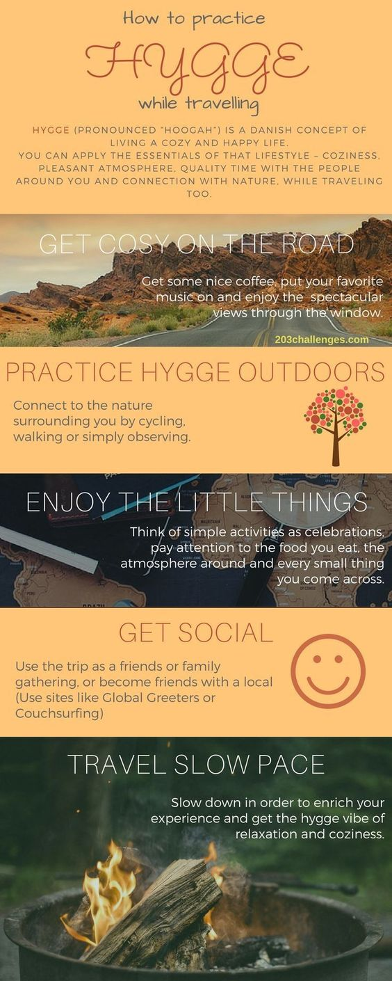 Hygge: how to apply the Danish cozy lifestyle to traveling (INFOGRAPHIC)