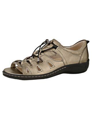 Sandalette , bronzefarben, Perlatoleder, Bequemweite H, WALDLÄUFER