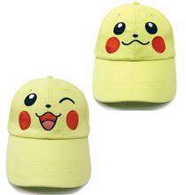1 unidades de la historieta linda Pokemon Pikachu sombrero de Cosplay bordado ajustable sombrero del sol del deporte gorras de béisbol regalo juguete(China (Mainland))