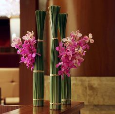 LOVE! Bamboo centerpiece!