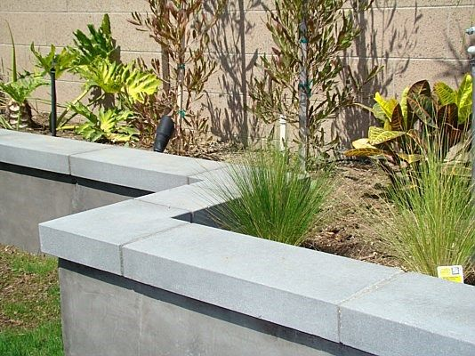 Square Modular Wall Cap Concrete Wall Caps Landscaping Retaining Walls Concrete Retaining Walls Concrete Fence Wall
