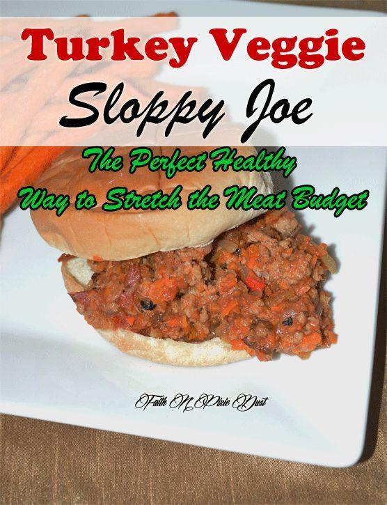 Turkey Veggie Sloppy Joes recipe that is budget and freezer friendly