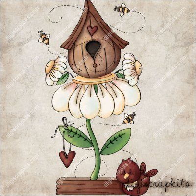 Daisy Birdhouse 1 Clip Art Single http://digiscrapkits.com/digiscraps/index.php?main_page=product_info&cPath=921_903&products_id=8824: