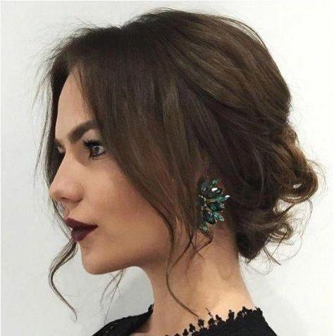 55 Trendiest Updos For Medium Length Hair Short Prom Hairstyles Prom Hairstyle Sho Updos For Medium Length Hair Medium Hair Styles Medium Length Hair Styles