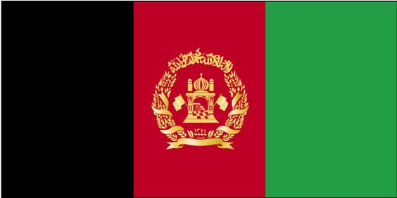 Country Flags: Afghanistan Flag