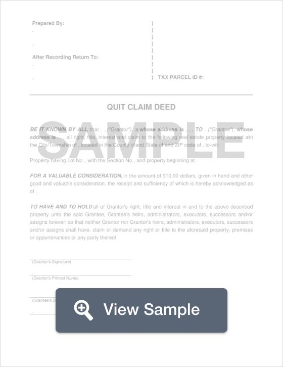 Free Quit Claim Deed  Tech Reference    Template