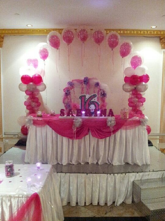 Sweet 16 balloon decor my daughter sweet 16 pinterest for Balloon decoration ideas for sweet 16