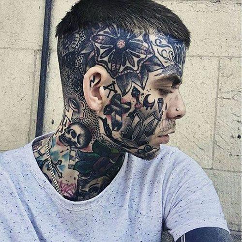 Cool Face Tattoo Designs For Men Best Face Tattoos Cool Face Tattoo Ideas And Designs For Men Sideburn Face Tattoos For Men Face Tattoos Mens Face Tattoos
