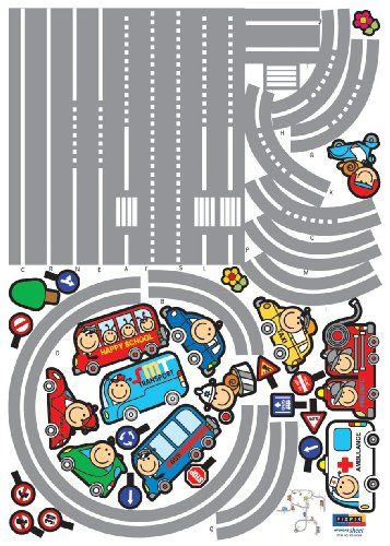 $10.19-$21.99 Baby Transportation Kids Room Removable Peel & Stick Wall/Floor Sticker Decals - Better than wallpaper, wall stickers are a perfect way to decorate your room and express yourself. They are a fun, easy and removable decor solution. These stickers are pre-cut and will only take you several minutes to apply on any surface - walls, doors, windows, and more. When you want to reposition  ...