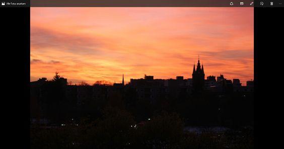 Berlin im Sonnenuntergang