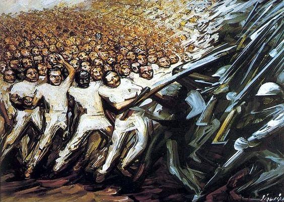 Sigueiros, David Alfaro (1896-1974) - 1961 Struggle for Emancipation (Private Collection) by RasMarley, via Flickr