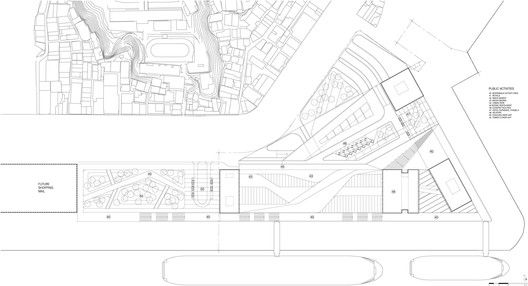 Keelung New Harbor Service Building Competition Entry / ACDF Architecture,site plan