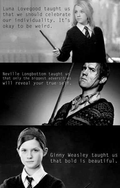 What the characters of HP taught me...