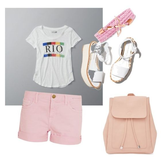 """Today sun"" by magdalenka-tokova ❤ liked on Polyvore featuring Abercrombie & Fitch, Current/Elliott, Paloma Barceló, New Look and glamping"