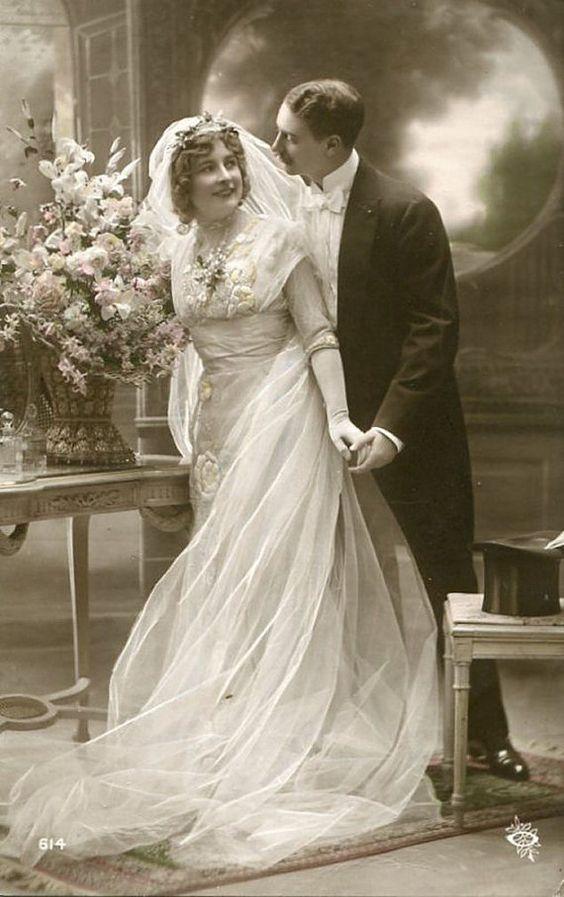 Vintage Wedding Postcard, ca. 1900s: