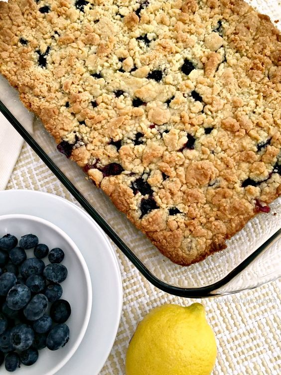 If you love summer flavors and easy desserts, then this Lemon Blueberry Dump Cake is for you! It only has 4 ingredients and bursting with flavor!