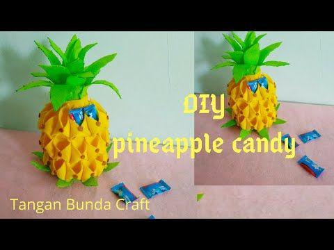 Tutorial Membuat Pineapple Candy Tempat Permen Flanel