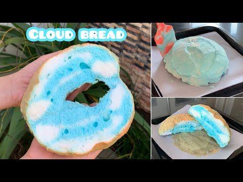 Resep Rahasia Cloud Bread 3 Bahan Resep Di 2020 Rendah Karbohidrat Pewarna Makanan Cloud Bread