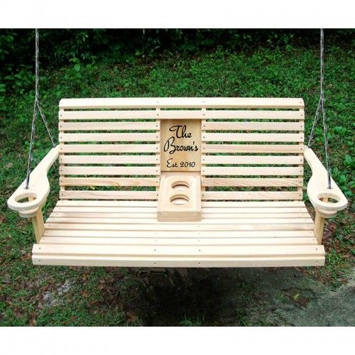 The o 39 jays swings and porches on pinterest for Log swing plans