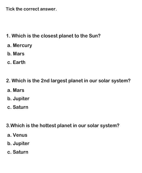 Solar System Worksheets Educational Worksheets for Kids Science – Educational Worksheets